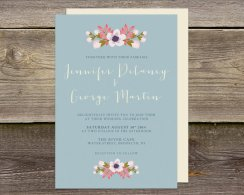 Dusty blue wedding invitation - www.etsy.com/shop/JANDOdesign