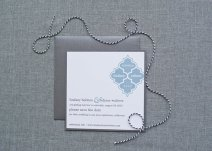 Dusty blue wedding invitation - www.etsy.com/shop/LamaWorks