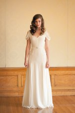 Ivory silk crepe wedding dress (US$1710) - www.etsy.com/shop/JillianFellers