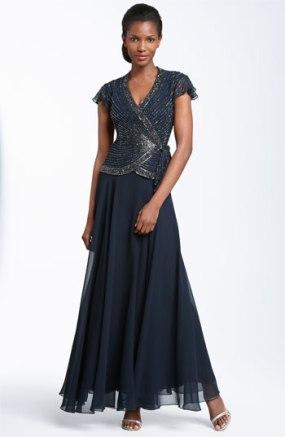 J Kara Beaded Chiffon Gown - nordstrom.com