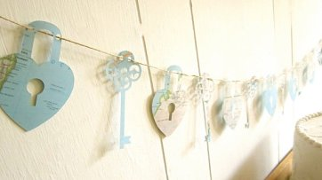 'Key to my heart' map garland - www.etsy.com/shop/MagpieandMax