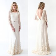 Lace Boho wedding dress (US$993) - www.etsy.com/shop/AnyaDionne