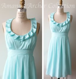Light blue bridesmaid dress - www.etsy.com/shop/AmandaArcher
