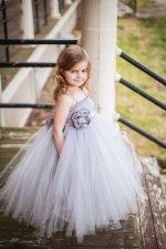 Light grey flower girl dress - www.etsy.com/shop/littledreamersinc