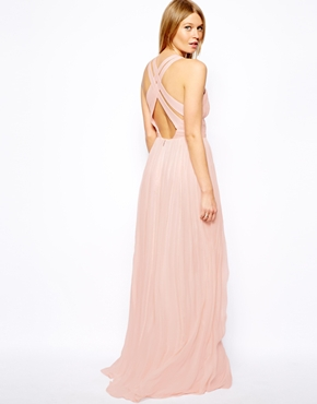Mango cross-back maxi dress - asos.com