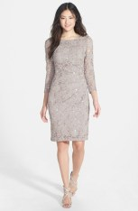 Marina Side Pleat Stretch Lace Dress - nordstrom.com