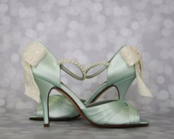 Mint and white bridal shoes - www.etsy.com/shop/DesignYourPedestal