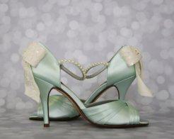 Mint and white bridal shoes - www.etsy.com/shop/DesignYourPedestal