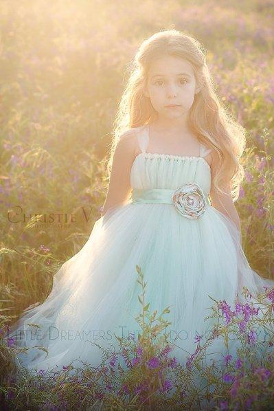 Mint and white flower girl dress - www.etsy.com/shop/littledreamersinc