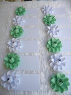 Mint and white placecards - www.etsy.com/shop/CreationsByDGB