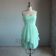 Mint bridesmaid dress - www.etsy.com/shop/RenzRags