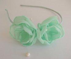 Mint flower girl headband - www.etsy.com/shop/ZBaccessory