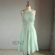 Sage green bridesmaid dress - www.etsy.com/shop/RenzRags
