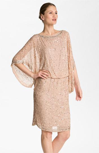 Patra Embellished Kimono Sleeve Silk Caftan Dress - nordstrom.com