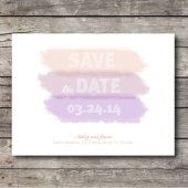 Peach and purple watercolour save the date - www.etsy.com/shop/51FOLD