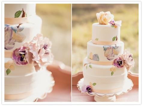 Peach and purple wedding cake idea {via emmatayloraa.blogspot.com}