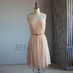Peach bridesmaid dress - www.etsy.com/shop/RenzRags