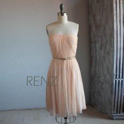 Peach bridesmaid dress - www.etsy.com/shop/RenzRags