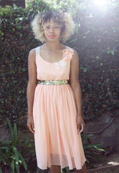 Peach bridesmaid dress - www.etsy.com/shop/whitecollections