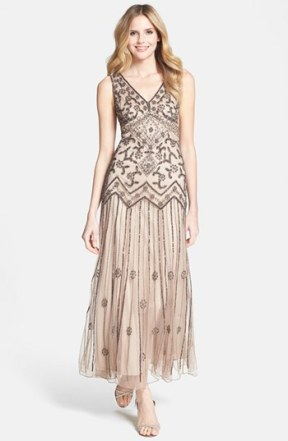 Pisarro Nights V-Neck Beaded Sequin Gown - nordstrom.com