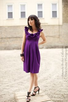Purple bridesmaid dress - www.etsy.com/shop/AmandaArcher