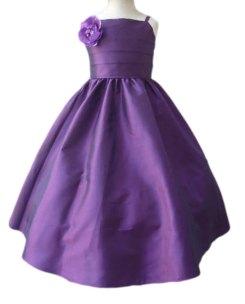 Purple flower girl dress - www.etsy.com/shop/LuuniKids