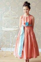 Silk flower girl dress - www.etsy.com/shop/annesdesignstudio