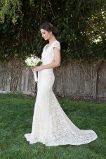 Stretch lace wedding dress (US$764) - www.etsy.com/shop/Dreamersandlovers