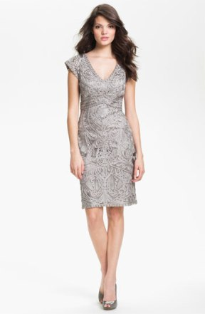 Sue Wong embroidered v-neck dress - nordstrom.com