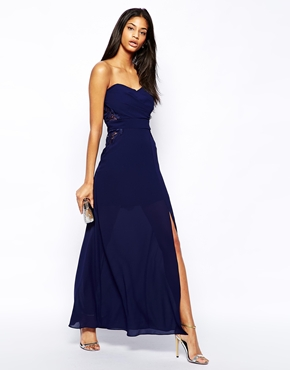 TFNC bandeau maxi dress - asos.com