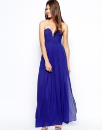 TFNC maxi dress with plunge bustier - asos.com