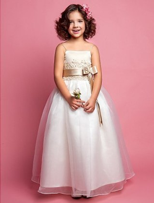 White and champagne flower girl dress - www.etsy.com/shop/WeddingboxshopByVivo