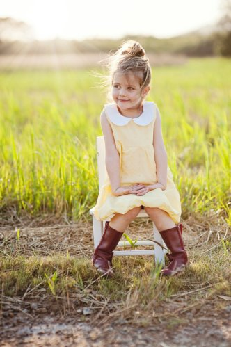 Yellow Peter Pan collar flower girl dress - www.etsy.com/shop/WillowandtheOwl