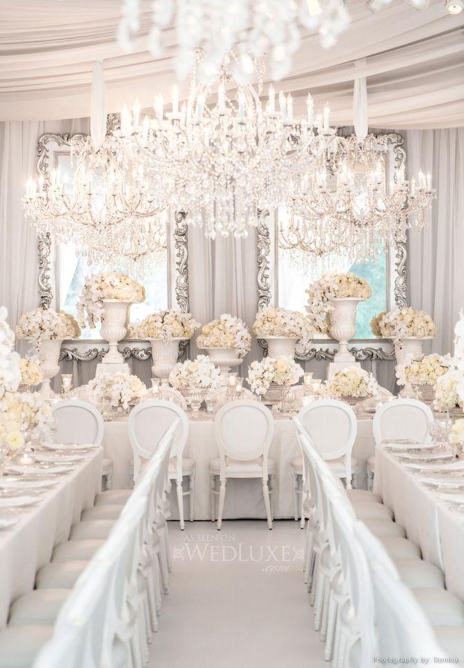A Very White Very Opulent Wedding Via The