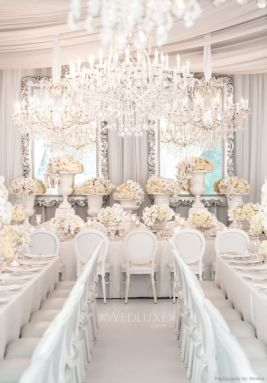 A very white, very opulent wedding {via wedluxe.com}