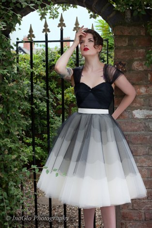 Black and white short wedding dress - www.etsy.com/shop/louiseomahony