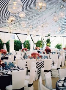 Black and white striped marquee/tent! Love. {via thebridaldetective.com}