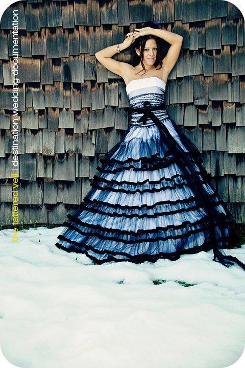 Black And White Wedding Dress Etsyshopateliertami The