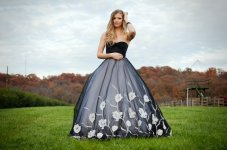 Black and white wedding dress - www.etsy.com/shop/MJVOCouture