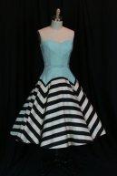Black, blue and white retro-style wedding dress - www.etsy.com/shop/BeautifulNuisance