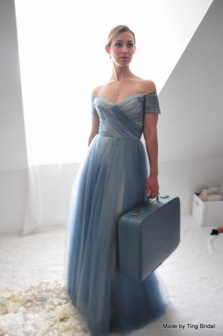 Blue wedding dress - www.etsy.com/shop/TingBridal
