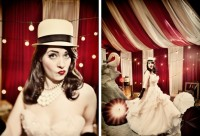 Bride in vintage circus wedding {via stylemepretty.com}