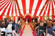 Circus big top wedding {via greenweddingshoes.com}