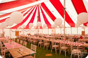 Circus wedding reception {via katforsyth.com}