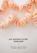 Coffee filter garland tutorial - http://31bits.com/blog/diy-coffee-filter-garland/