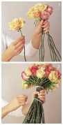 DIY bouquet tutorial - http://www.jrroses.com/weddingflower3.0.html
