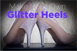 Glitter heels tutorial - http://thefrugalgirls.com/2012/02/diy-glitter-heels.html