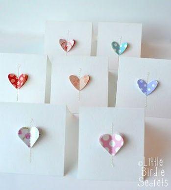 Heart notecards tutorial - http://littlebirdiesecrets.blogspot.co.nz/2011/02/love-notes-easy-note-cards.html