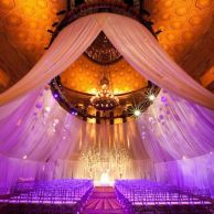 I wonder how much fabric was used in the draping? {via bridalguide.com}