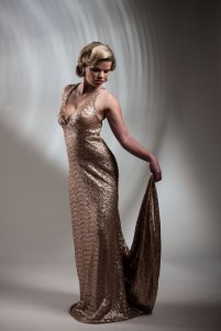 Metallic sequin wedding dress - www.etsy.com/shop/PureMagnoliaCouture